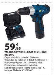 Oferta de Taladro a batería por 59.95€