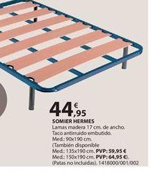 Oferta de Somier de láminas por 44.95€