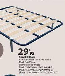 Oferta de Somier de láminas por 29.95€