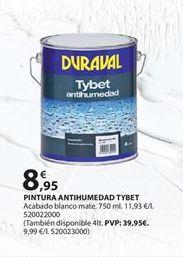 Oferta de Pintura antihumedad duraval por 8.95€