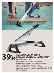 Oferta de Guillotina cortasuelos wolfcraft por 39.95€