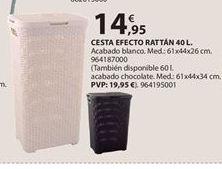 Oferta de Cesta para ropa por 14.95€
