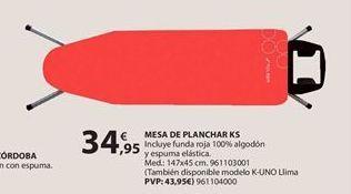 Oferta de Tabla de planchar por 34.95€
