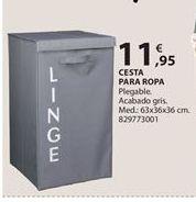 Oferta de Cesta para ropa por 11.95€