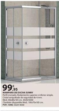 Oferta de Mampara de ducha por 99.95€