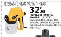 Oferta de Pistola de pintura Power plus por 32.95€