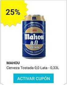 Oferta de Cerveza sin alcohol Mahou por