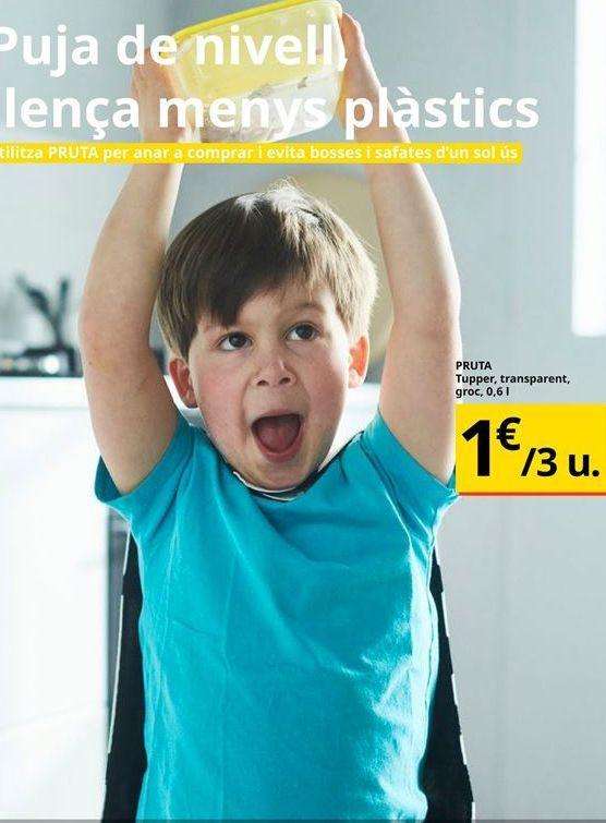 Oferta de Tupper, transparente groc por 1€