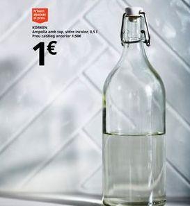 Oferta de Botella de vidrio por 1€