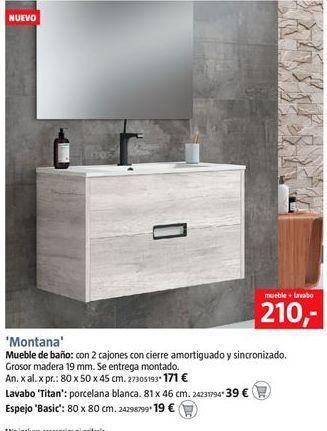 Oferta de Muebles de baño por 210€
