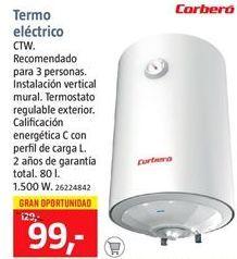Oferta de Termo eléctrico Corberó por 99€
