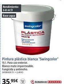 Oferta de Pintura plástica swingcolor por 35.95€