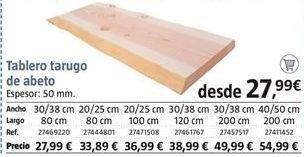 Oferta de Tableros por 27.99€