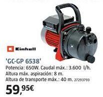 Oferta de Bomba de agua Einhell por 59.95€