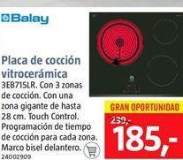 Oferta de Placa de inducción Balay por 185€