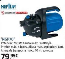 Oferta de Bomba de agua por 79.95€