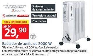 Oferta de Radiador de aceite por 29.9€