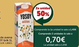 Oferta de Bebida de avena YOSOY por 1.4€