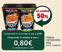 Oferta de Fideos YATEKOMO por 1.59€