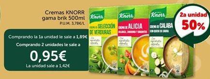 Oferta de Cremas KNORR gama brik  por 1.89€