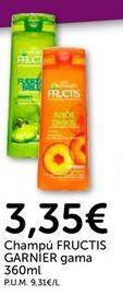 Oferta de Champú Fructis Garnier por 3.35€