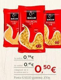 Oferta de Pasta GALLO  por 0.59€
