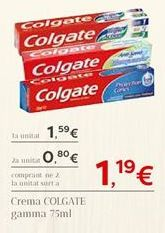 Oferta de Crema COLGATE  por 1.59€
