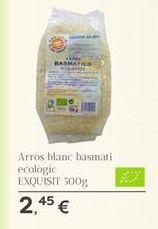 Oferta de Arros blanc basmati ecológic EXQUISIT por 2.45€