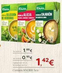 Oferta de Cremes KNORR  por 1.89€