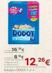 Oferta de Bolquers DODOT por 16.35€