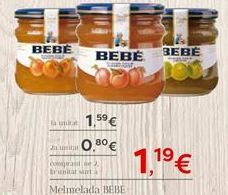 Oferta de Mermelada BEBE por 1.19€