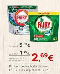 Oferta de Detergente lavavajillas Fairy por 3.59€