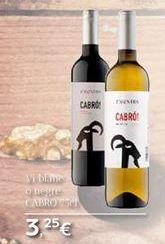 Oferta de Vi blanc o negre CABRÓ  por 3.25€
