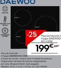 Oferta de Placa de inducción Daewoo por 209.25€
