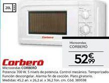 Oferta de Microondas Corberó por 52.99€