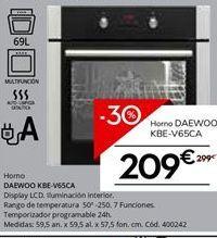 Oferta de Hornos Daewoo por 209.3€