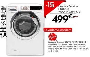 Oferta de Lavadora secadora Hoover por 509.15€
