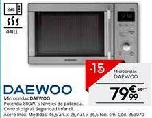 Oferta de Microondas Daewoo por 84.15€