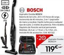Oferta de Aspirador escoba Bosch por 119.2€