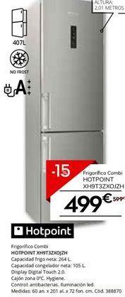 Oferta de Frigorífico combi Hotpoint por 509.15€