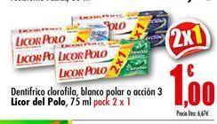 Oferta de Dentífrico Licor del Polo por 1€