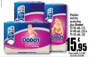 Oferta de Pañales activity protection plus Dodot por 15.95€