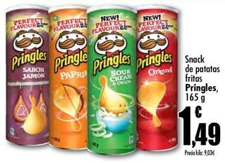Oferta de Snacks de patatas fritas Pringles por 1.49€