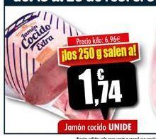 Oferta de Jamón cocido Unide por 1.74€