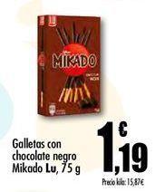 Oferta de Galletas de chocolate negro mikado Lu por 1.19€