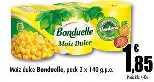 Oferta de Maíz dulce Bonduelle por 1.85€