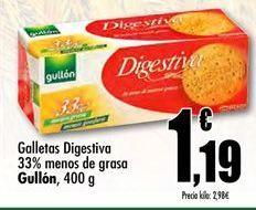 Oferta de Galletas Digestive Gullón por 1.19€
