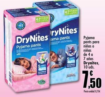 Oferta de Pyjama pants para niños o niñas DryNites por 7.5€