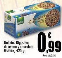 Oferta de Galletas Digestive de avena y chocolate GUllon por 0.99€