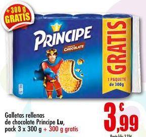 Oferta de Galletas rellenas de chocolate Príncipe LU por 3.99€